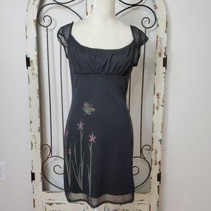 Monster Girl embellished black dress